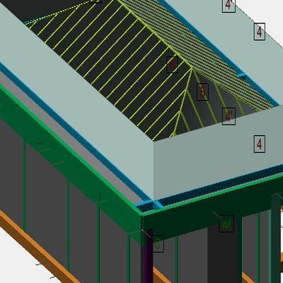 Budynek jednorodzinny - projekt konstrukcji Dortech
