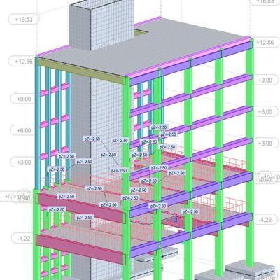 budynek usługowy projekt konstrukcji dortech